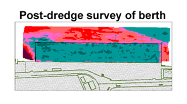 Post dredge survey of berth